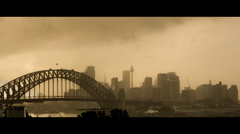 Sydney in the mist