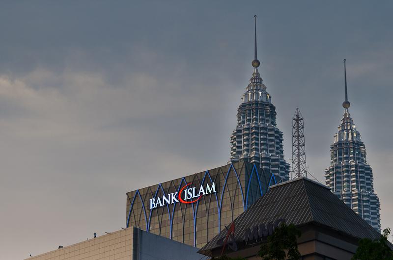 Petronas Twin Towers - Aus der Ferne